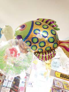夏デザインのバルーン(魚)