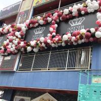 キャバクラ周年イベントバルーン装飾
