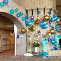 ホテル夏休みイベントバルーン装飾